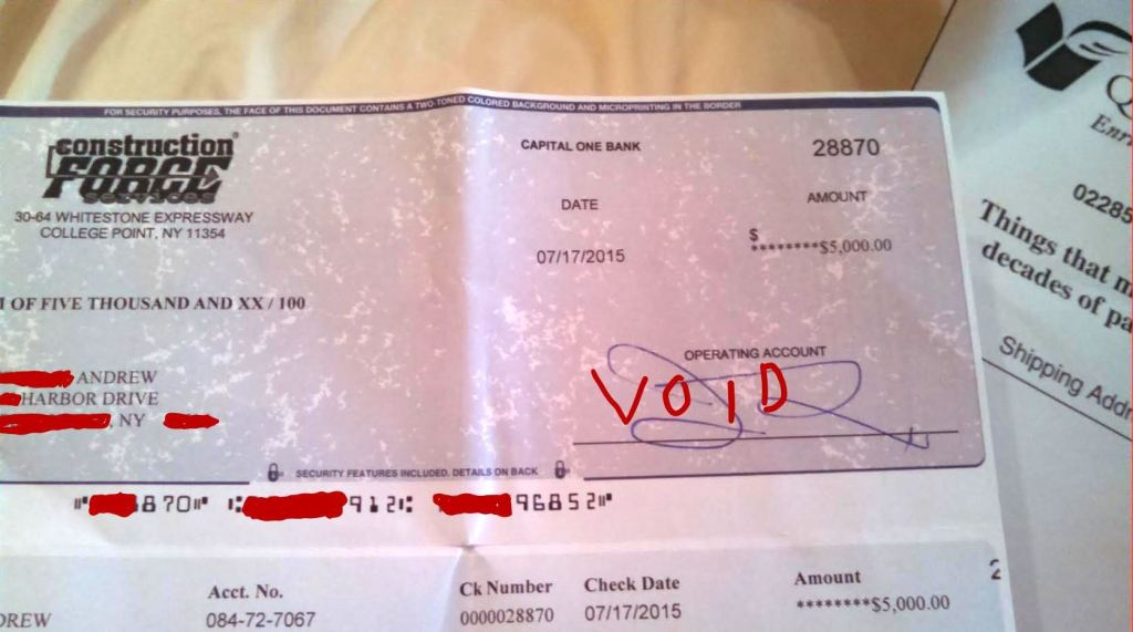The Check, Itself